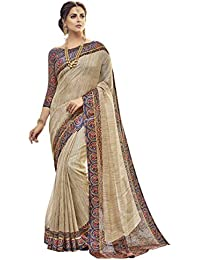 Shangrila Designer Women's Kora Silk Saree With Blouse Piece (Kots3-2337, Beige, Free Size)