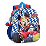 Disney- Mochila Mickey Race, Multicolor, 25 cm (4282061)