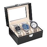 Uhrenkasten Uhrenbox Uhrenkoffer für 3 Uhren Aufbewahrung Uhren Uhrenschatulle Speicher Uhren Uhrbox