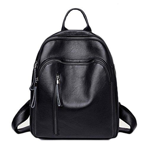 TIBES Rucksäcke Rucksackhandtaschen Schulranzen Schultaschen Tasche Studententasche Daypacks Umhängetasche Satchel B Schwarz