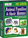 User-Friendly Design and Durable The Creative Educational Aids 0620 Animal Families and Their Homes is a highly engrossing board game that enables preschoolers to learn about the habitats of wild and domesticated animals in an enjoyable manner. Th...
