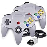 QUMOX 2x Game controller Joystick für Nintendo 64 N64 System GamePad grau