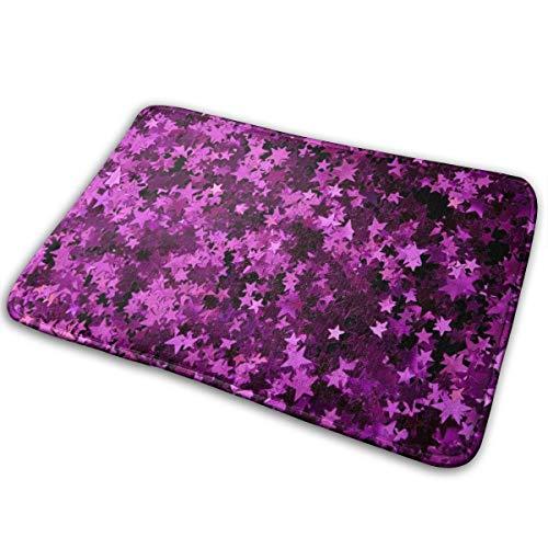 Abigails Home Lila Blatt Matte Teppich Fußmatte Badezimmer Küche rutschfeste Indoor-Eingang 15,7