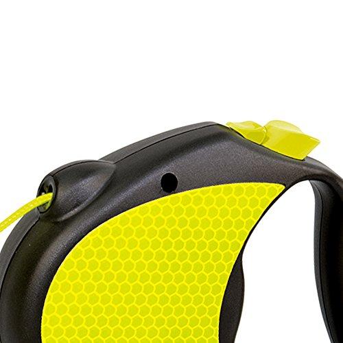 flexi Roll-Leine Neon Reflect S Seil 5 m Neon/schwarz für Hunde bis max. 12 kg - 3