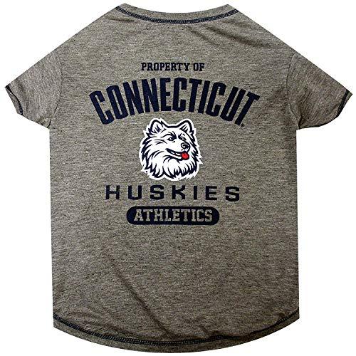 Connecticut Huskies NCAA Dog Pet Tee T-Shirt, Medium -