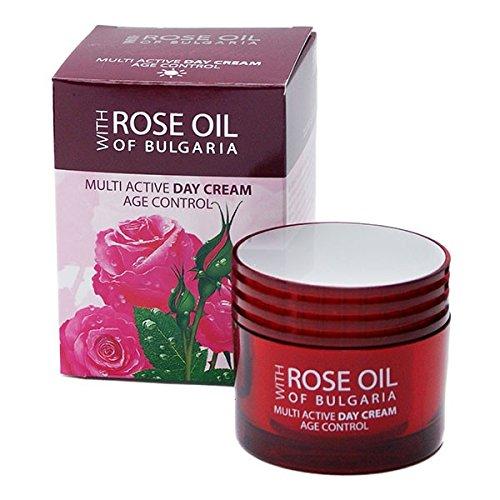 Multiaktive Anti Aging Tagescreme mit Rosenöl und Rosenwasser mit UV Schutz - MULTI ACTIVE DAY CREAM AGE CONTROL 50 ml -