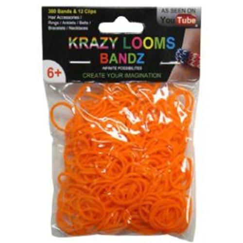 Krazy Looms Banz. Paquete de 12 bolsas 3 colores diferentes. (200 gomas/bolsa)