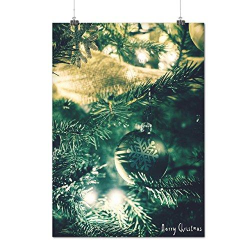 Baum Gemütlich Fröhlich Weihnachten Weihnachten Baum Mattes/Glänzende Plakat A4 (30cm x 21cm) | Wellcoda (Billig Und Fröhlich Halloween Kostüme)