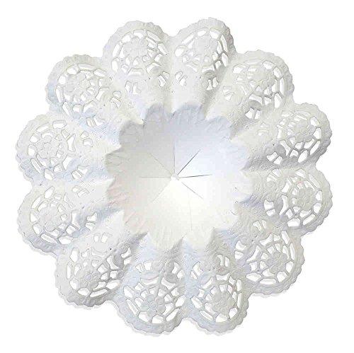 Biedermeiermanschetten weiß, 25 Stück, Gr. 8, Ø 18 cm