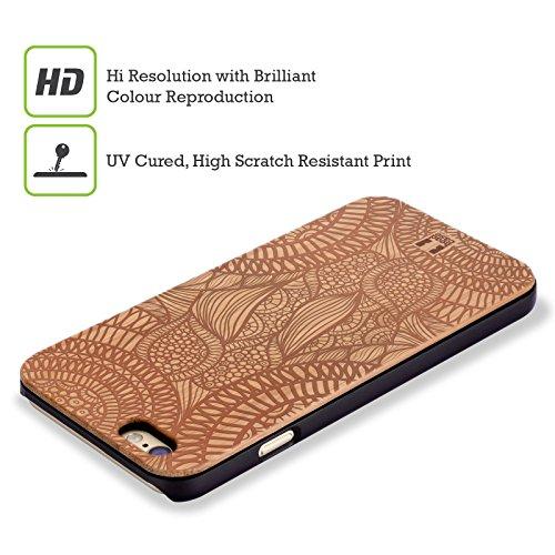 Head Case Designs Feuilles Art En Bois Étui Coque En Bois De Bambou Pour Apple iPhone 5 / 5s / SE Feuilles