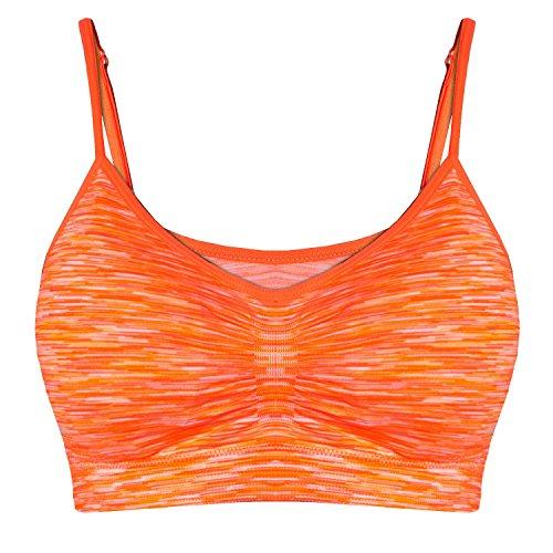 Libella Damen Sport BH Bustier Stretch ohne Bügel 3718 in mehren Farben Orange