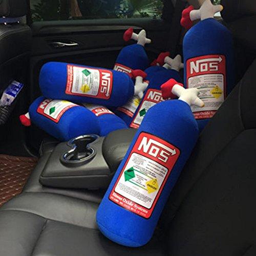 Steellwingsf NOS Nitrous Oxide Flasche Tank Creative Plüsch Überwurf Kissen für Auto Reise, Plüsch, blau, Einheitsgröße -