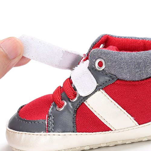 Igemy 1 Paar Baby Schuhe Jungen Mädchen Neugeborene Krippe Weiche Sole Schuh Sneakers Rot