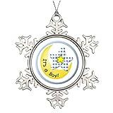 Ai Vion N. AST Dekoration Mond und Stern it 's a Boy Weihnachten Schneeflocke Ornament Baum
