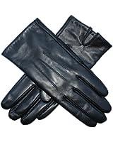 Jasmine Silk Ladies Luxury Genuine Lambskin Leather Cashmere Lined Gloves BLACK