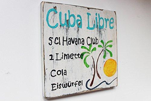 Holzschild im Vintage Style: Cuba Libre