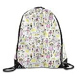 HLKPE Beach Summer Day Fashion Drawstring String Bag Backpack Sackpack