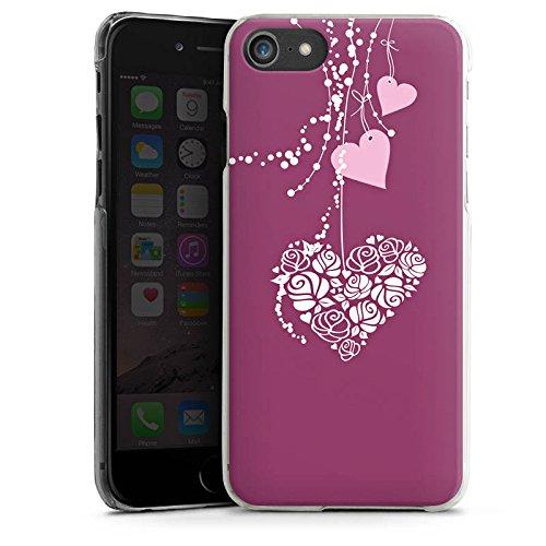 Apple iPhone X Silikon Hülle Case Schutzhülle Love Muster Hängende Herzen Hard Case transparent