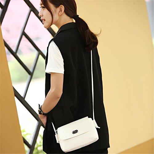 Longra Donna Moda Wristlock Shoulder Bag Messenger Bianca