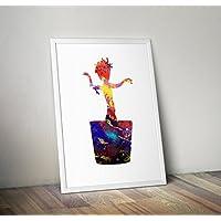 Baby Groot Print, Groot Poster, Wächter der Galaxis A4 8.3 x 11.7 Zoll