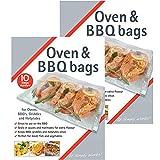 Spares2go barbacoa horno grill placa carne barbacoa de pescado de vapor bolsa bolsas de vapor (tamaño mediano) Fitment List B