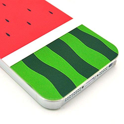 PowerQ [ per Iphone 5S 5G 5 IPhone5 IPhone5S - 14 ] la stampa del modello di plastica caso del modello di serie del sacchetto stampa cassa del telefono mobile di plastica colorata di disegno della pel 7
