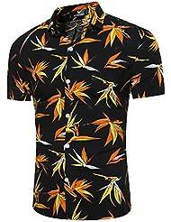 XiaoGao_ la plage d'hommes chemise à manches courtes.