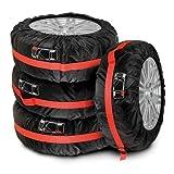 Lampa 15940 Tyre-Wrap Basic Set 4 Copriruota, Poliestere