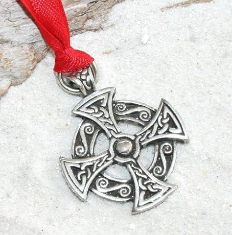 Zinn Solar Kreuz Celtic Druide Irish Pagan Weihnachten Ornament und