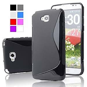Lg L9 Magic Brand S-Line Black Soft Silicon Back Cover Case