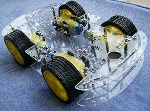 Kostenloser Versand 4WD Smart Robot Car Chassis Kits mit Drehzahlgeber Neu