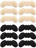 6 Pares Almohadilla de Talón Agarre de Zapatos de Tacón Plantillas Autoadhesivas de Zapato Protector de Cuidado de Pies (Negro y Color de Piel)
