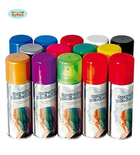 Halloween Haar Color Spray - Guirca Farb Haarspray ca. 125 ml,