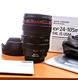 Canon 344B006 EF 24-105mm f/4.0 L IS USM Lens