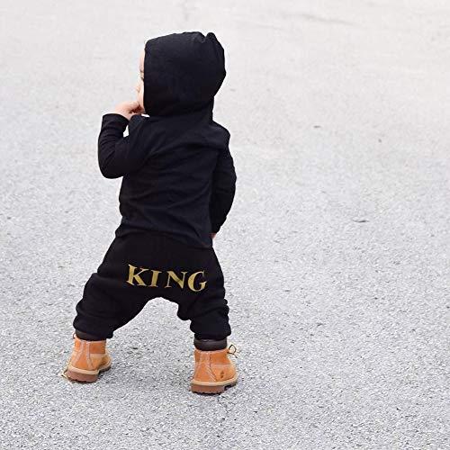 Abbigliamento Neonato Inverno Autunno Tute Bimbo 6-9 12-18 Mesi Toddler  Bambini Bambino Lettera Ragazzi Ragazze Felpa Con Cappuccio Abiti Romper  Tuta (6-12 ... 774d71a46c8