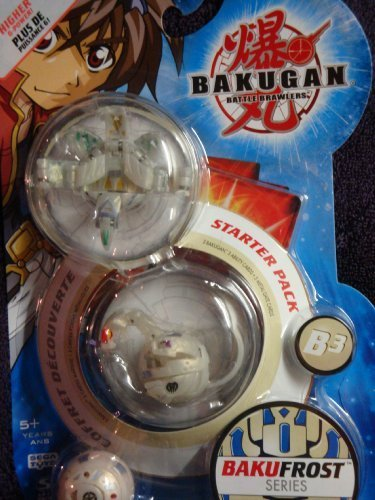 Bakugan Awesome Higher Power Bralwers Stug Atmos, Myriad Hades, Obis Omega Bakufrost Series Including Ability & Gate Cards by Spin Master