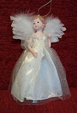 Arbre de décoration pour sapin de Noël Fée/Ange Ailes plumes 20cm 20,3cm, naturel, 20 cm