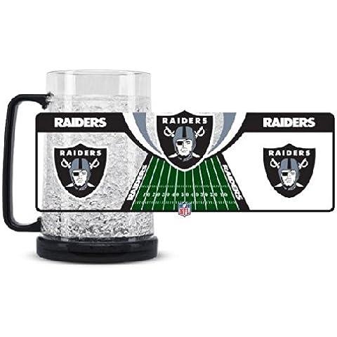 De equipo de fútbol americano de cristal taza de congelador del equipo de: Oakland Raiders