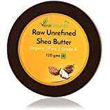 Vera Naturals Raw Unrefined Shea Butter - for DIY Body Butters, Lotions, Soap, Eczema Treatment and Stretch Mark Removal Products, Lotion Bars 120g