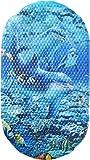 Papillon 69 x 39 cm Safety Bath Dolphins Mat, Blue