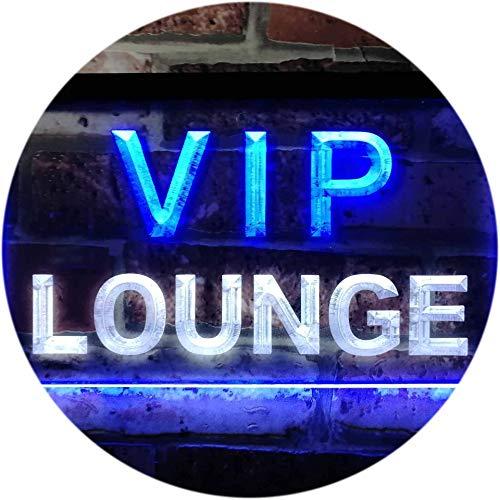 ADVPRO VIP Lounge Bar Beer Club Pub Man Cave Dual Color LED Barlicht Neonlicht Lichtwerbung Neon Sign White & Blue 300mm x 210mm st6s32-j0691-wb Dual-white Led