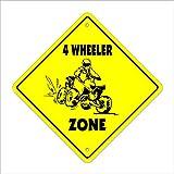 4Wheeler Crossing Sign Zone Xing | Intérieur/extérieur | 35,6cm de Hauteur...