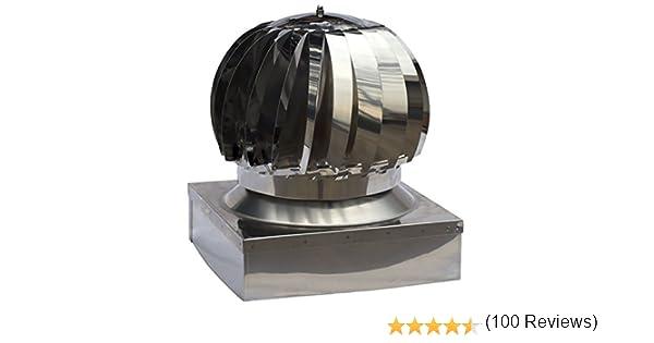 chapeau de chemin/ée base carr/ée Util.Fer Extracteur de fum/ées rotatif /éolien en inox toutes dimensions