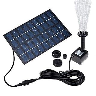 LATITOP Solar Pump, 1.8W Solar Water Pump Solar Fountain Solar Powered Water Pum kit for Bird Bath, Garden, Backyard, Small Pond