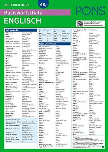 PONS Basiswortschatz auf einen Blick Englisch: Kompakte Übersicht, ca. 1.000 Wörter nach Themen sortiert (PONS Auf einen Blick, Band 47)