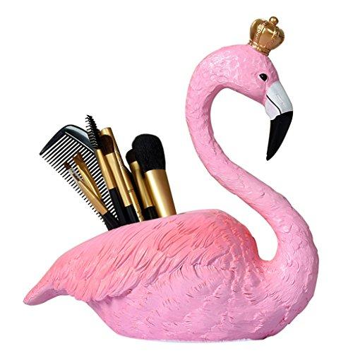 DZXM Stifthalter Harz Stift Topf Mode Regal Student Stift Box Schreibtisch Aufbewahrungsbox Flamingo Kosmetik Fall - Lagerung Topf Rack
