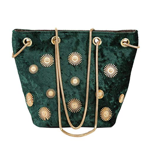 Mitlfuny handbemalte Ledertasche, Schultertasche, Geschenk, Handgefertigte Tasche,Damentasche Velvet Rivet Bucket Bag Joker Umhängetasche Messenger Bag -