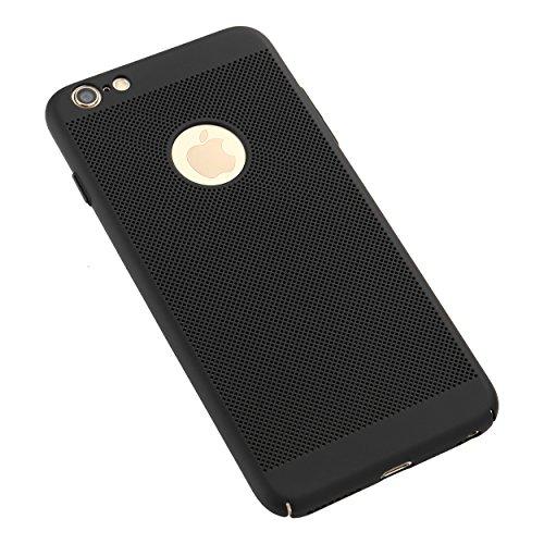 Liamoo® Apple iPhone 6 / 6s Hülle / Case / Schutzhülle aus Kunststoff gelocht mit Logoausschnitt in blau schwarz