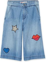 Marchio Amazon - RED WAGON Jeans Bambina con Patches