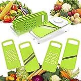 Gemüseschneider | 7-teilig | KHP Professional | rostfreier Edelstahl | Gemüsereibe | Obstschneider | Multi-Schneider | Spiralschneider | Gemüsehobel | Zerkleinerer | Schäler | für echten Spaß beim Kochen